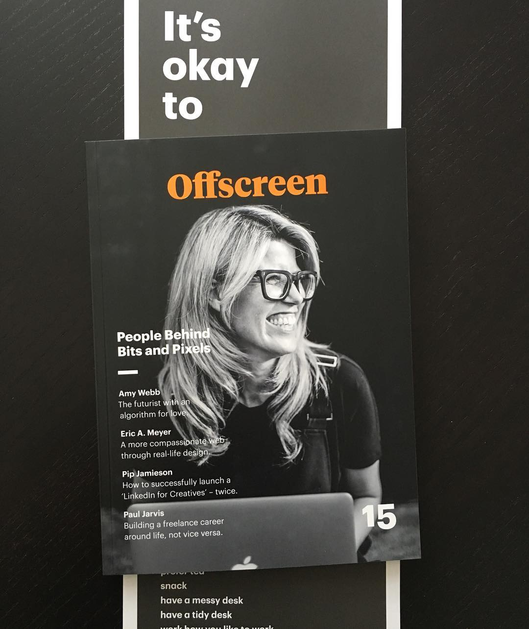 It's okay to read the new arrived @offscreenmag when you actually should work #offscreenmag